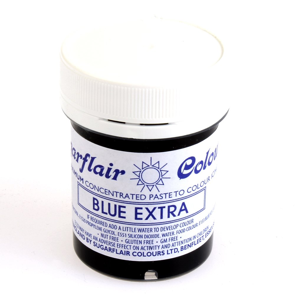 31439 Sugarflair BLUE EXTRA max concentrated paste gel icing / f