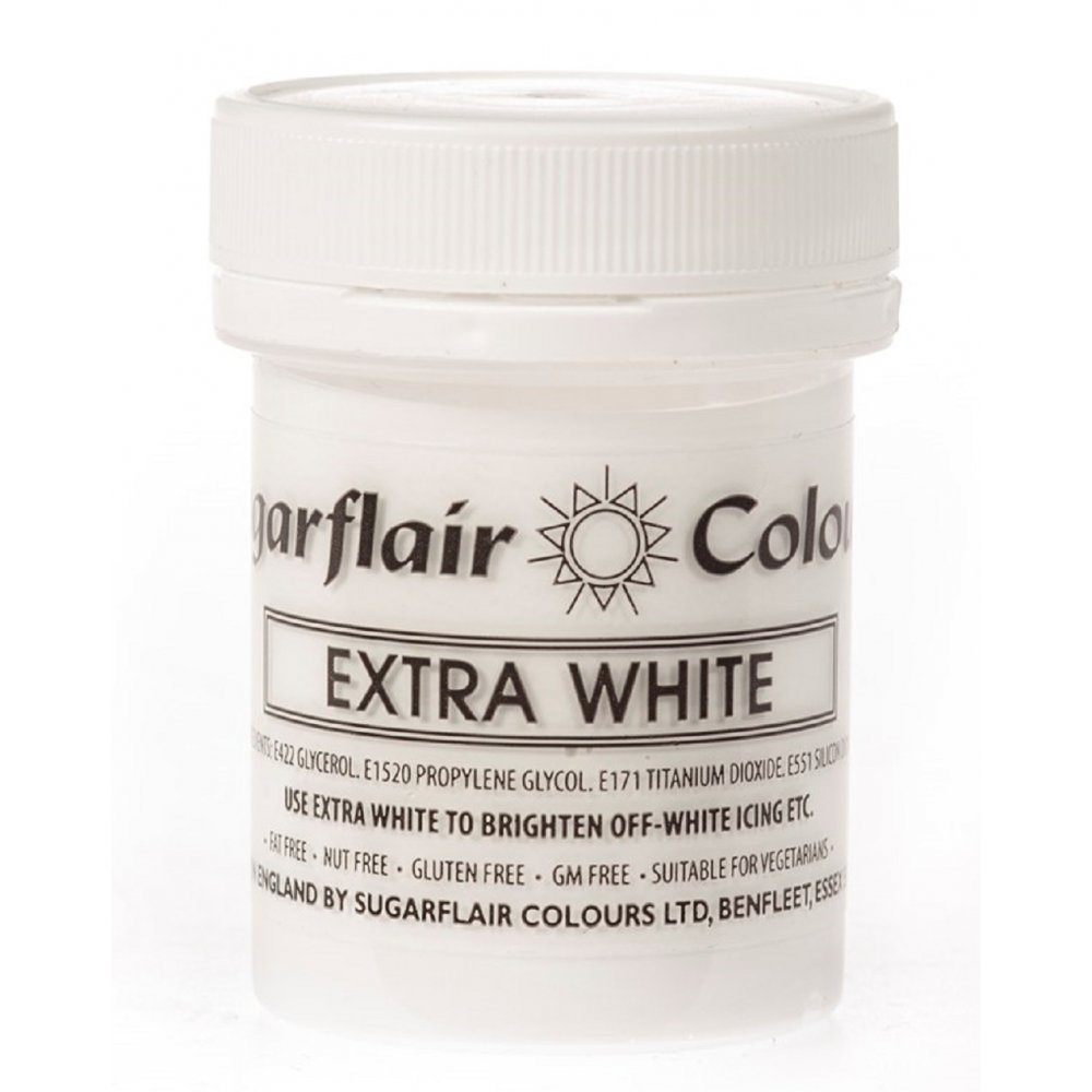 31441 Sugarflair 50g EXTRA WHITE icing whitener & buttercream co