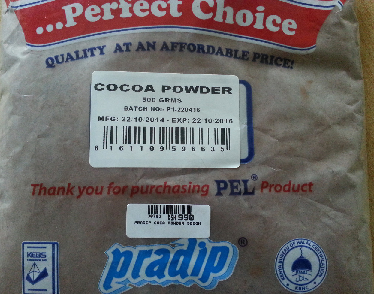 30783 Pradip Cocoa Powder 500gm