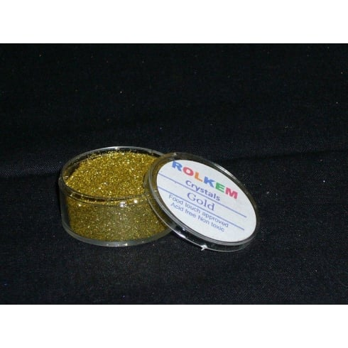 31095 Rolkem Crystal Non Toxic Sugarcraft Glitter Colours 10ml G