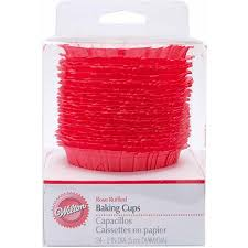 2000535 Wilton Baking Cups Rose Ruffled 24pcs