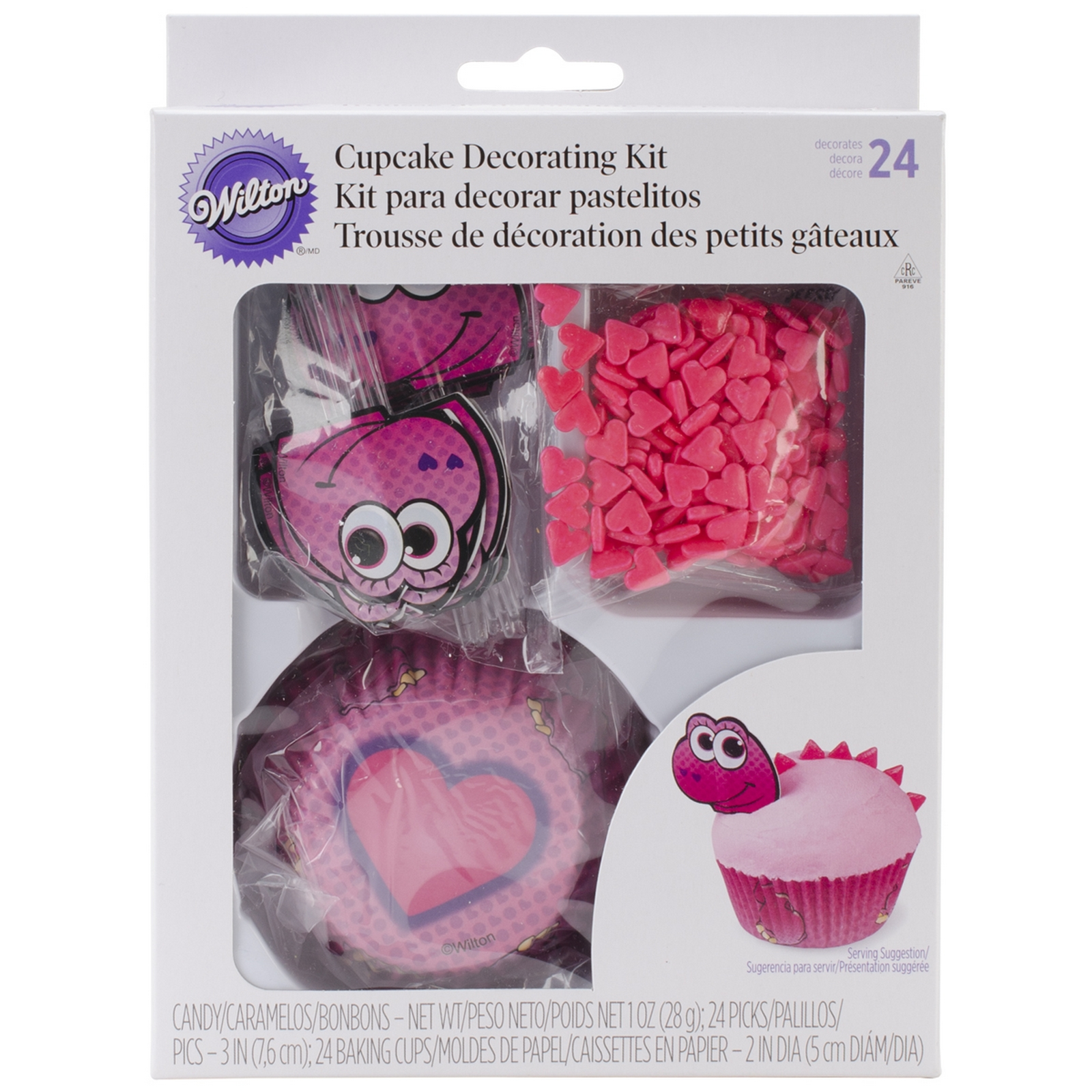 2000541 Wilton Cupcake Decorating Kit Valentine