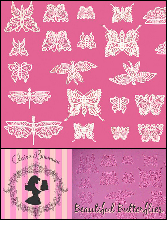 2000091 Beautifull Butterfly Cake Lace Mat