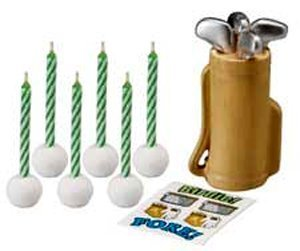 2000549 Wilton Golf Decal Candle Set 6