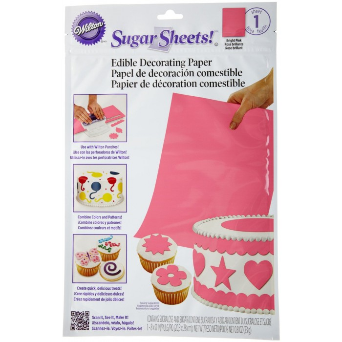 30650 Wilton Sugar Sheet, Bright Pink
