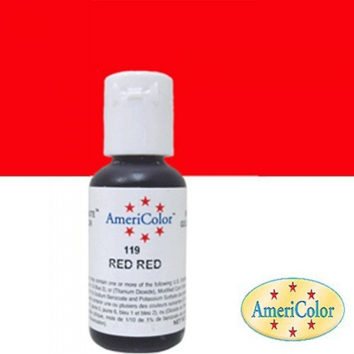 30663 Americolor Soft Gel Paste Food Colour, Red Red 22 Ml