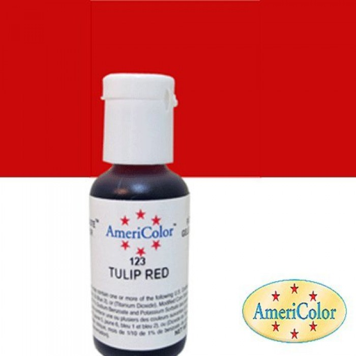 30698 Americolor Soft Gel Paste Food Colour, Tulip Red 22 Ml