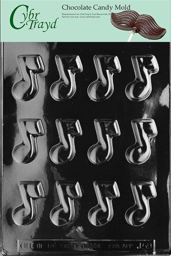 2001274 Cybrtrayd J059 Musical Note Chocolate Candy Mold