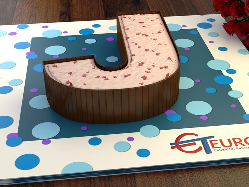 2001965 Euro Large Letter J Cake Tin Organicandsugarworld