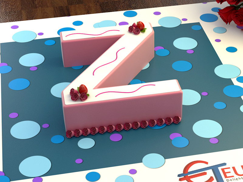2001980 Euro Large Letter Z Birthday Cake Tin Organicandsugarworld