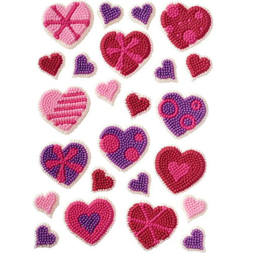 31360 Wilton Patterned Hearts Icing Decorations