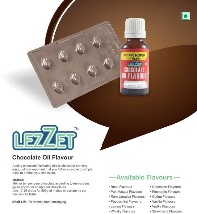 31811 LEZZET CHOCOLATE OIL FLAVOUR ORANGE 20ML
