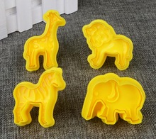 2000814 Patisse 4pc animal plunger cutter set 5cm