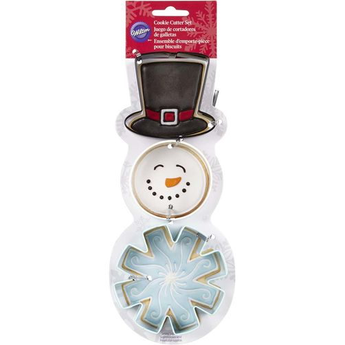 2002328 Wilton Snowman Cookie Cutter Set