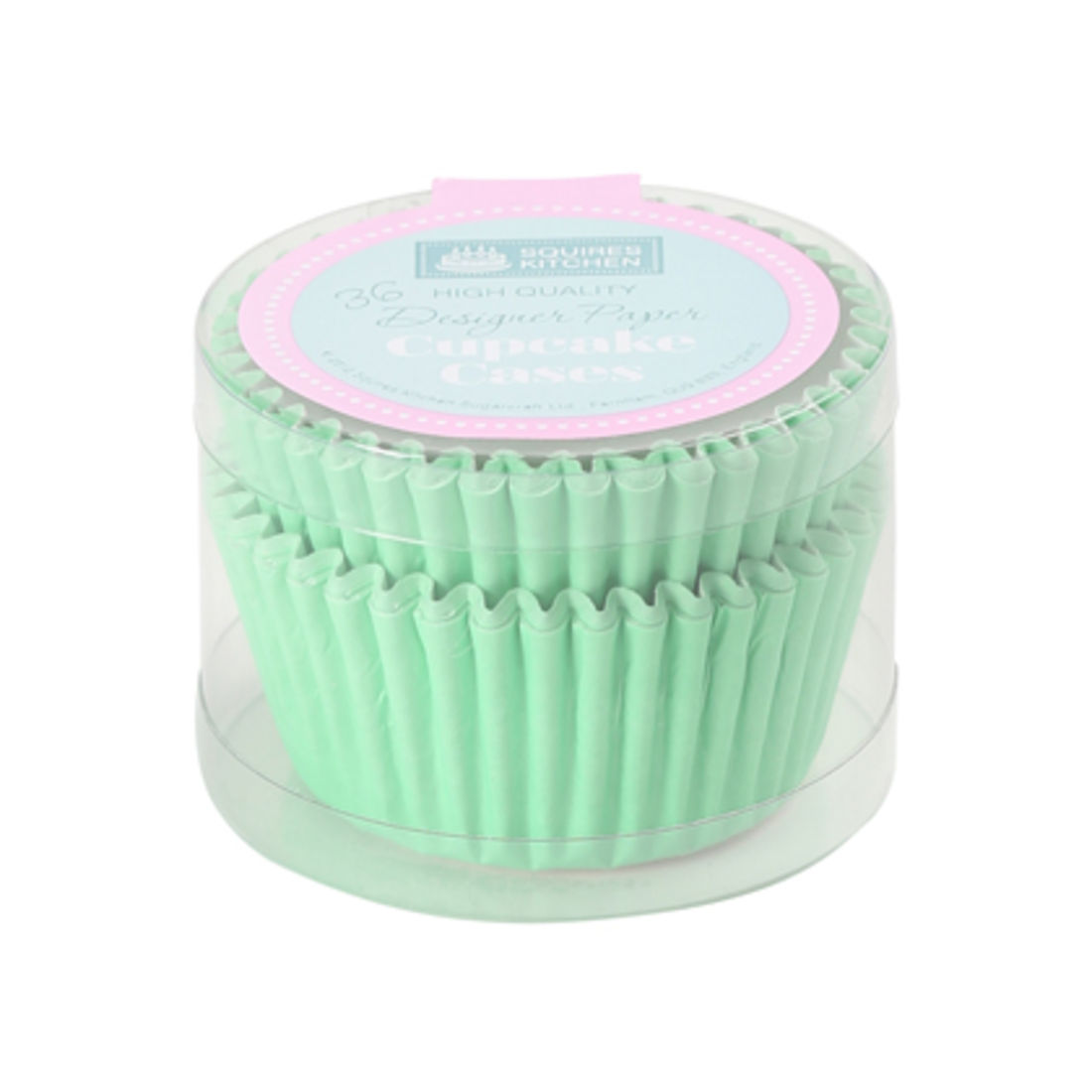 2001628 SK Cupcake Cases Colour Block Pack Of 36 Pastel Green