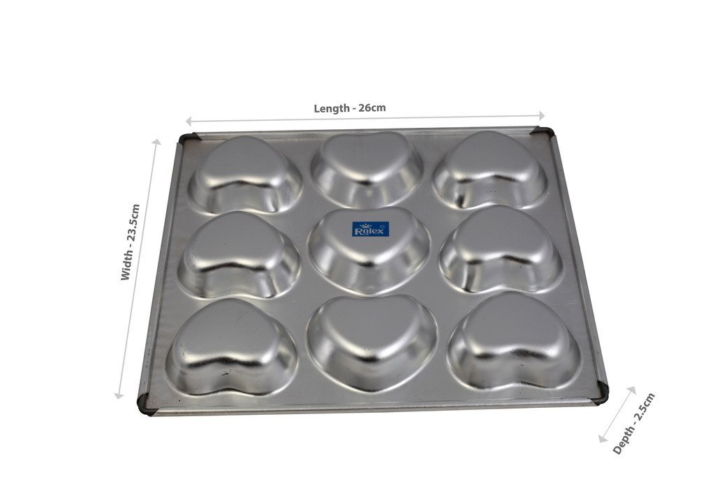 2002749 Rolex Heart Muffin Tray 9 in 1