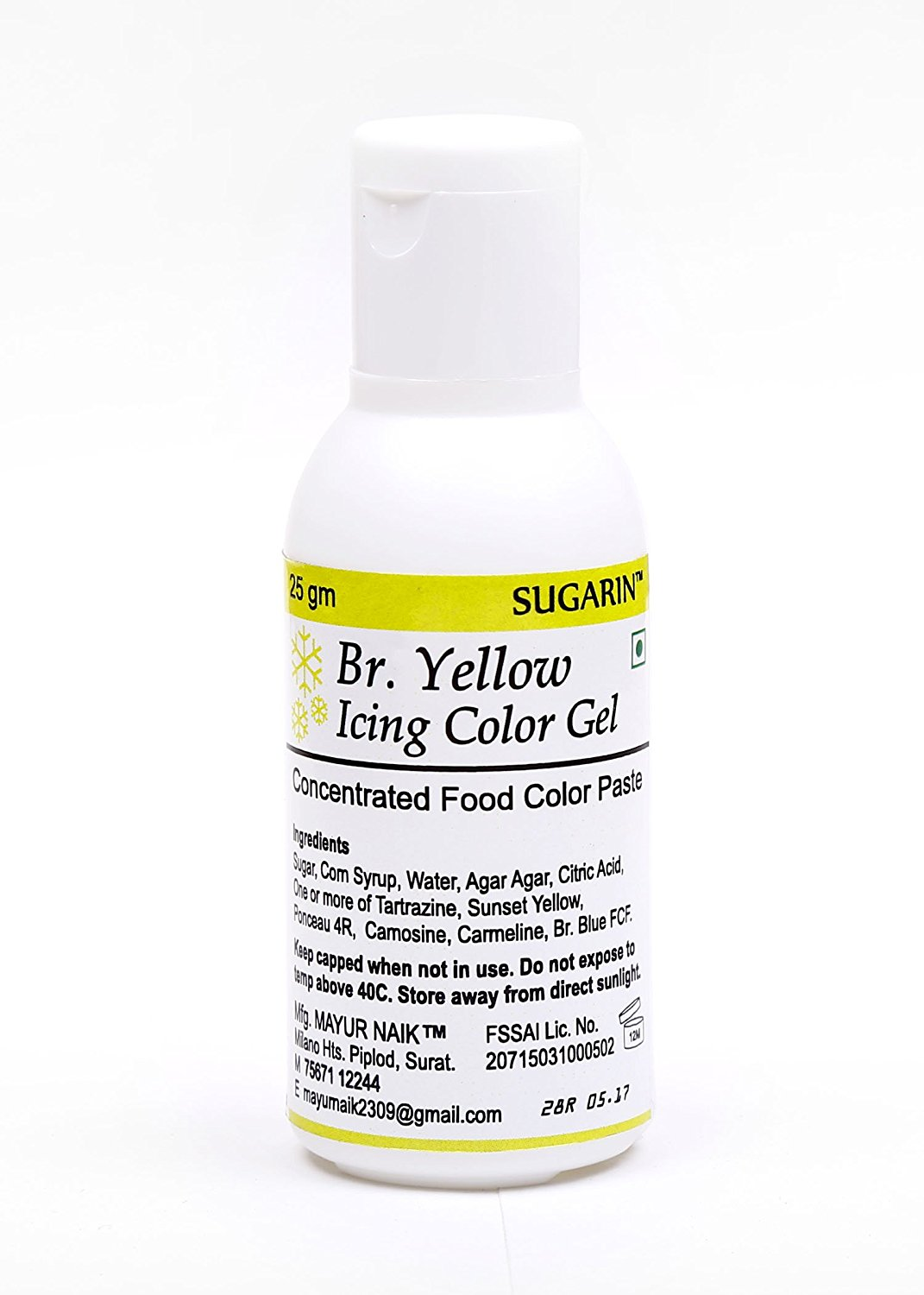31685 Sugarin Icing Color Gel for Fondant, Brilliant Yellow, 25