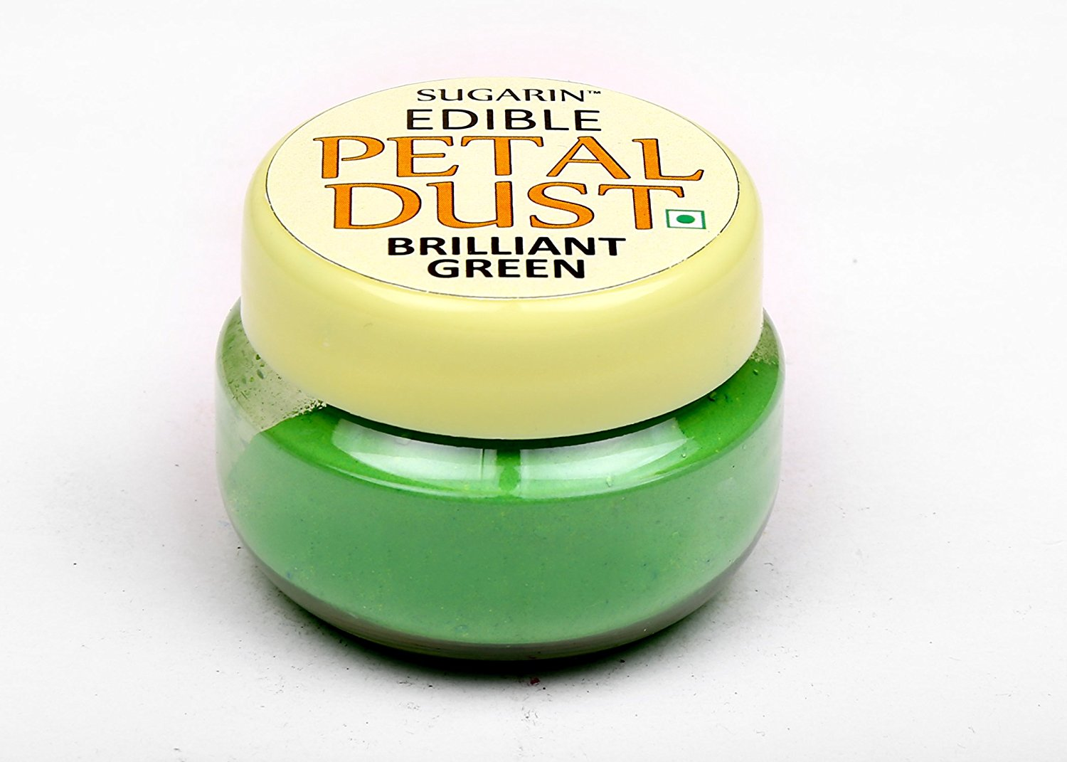31706 SUGARIN Edible Petal Dust, Brilliant Green, 4.25 gram
