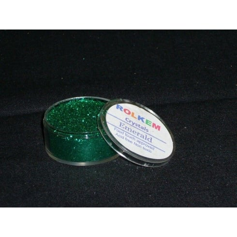 31087 Rolkem Crystal Non Toxic Sugarcraft Glitter Colours 10ml E