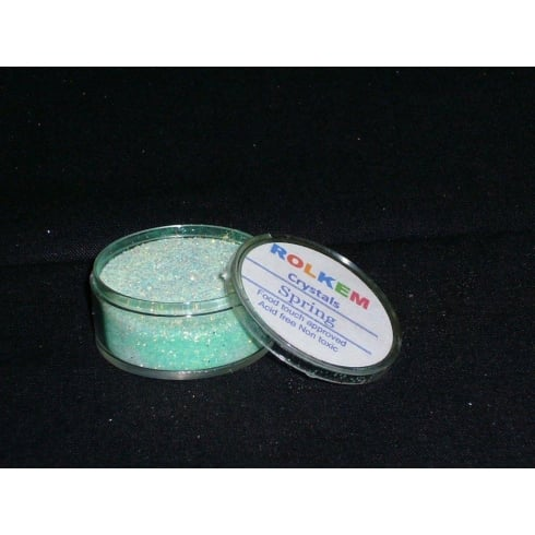 31088 Rolkem Crystal Non Toxic Sugarcraft Glitter Colours 10ml S