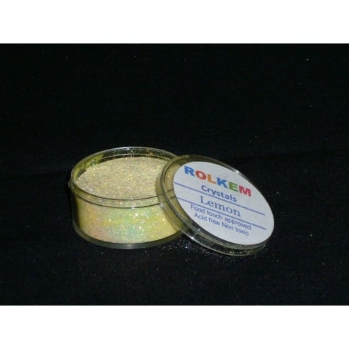 31090 Rolkem Crystal Non Toxic Sugarcraft Glitter Colours 10ml L