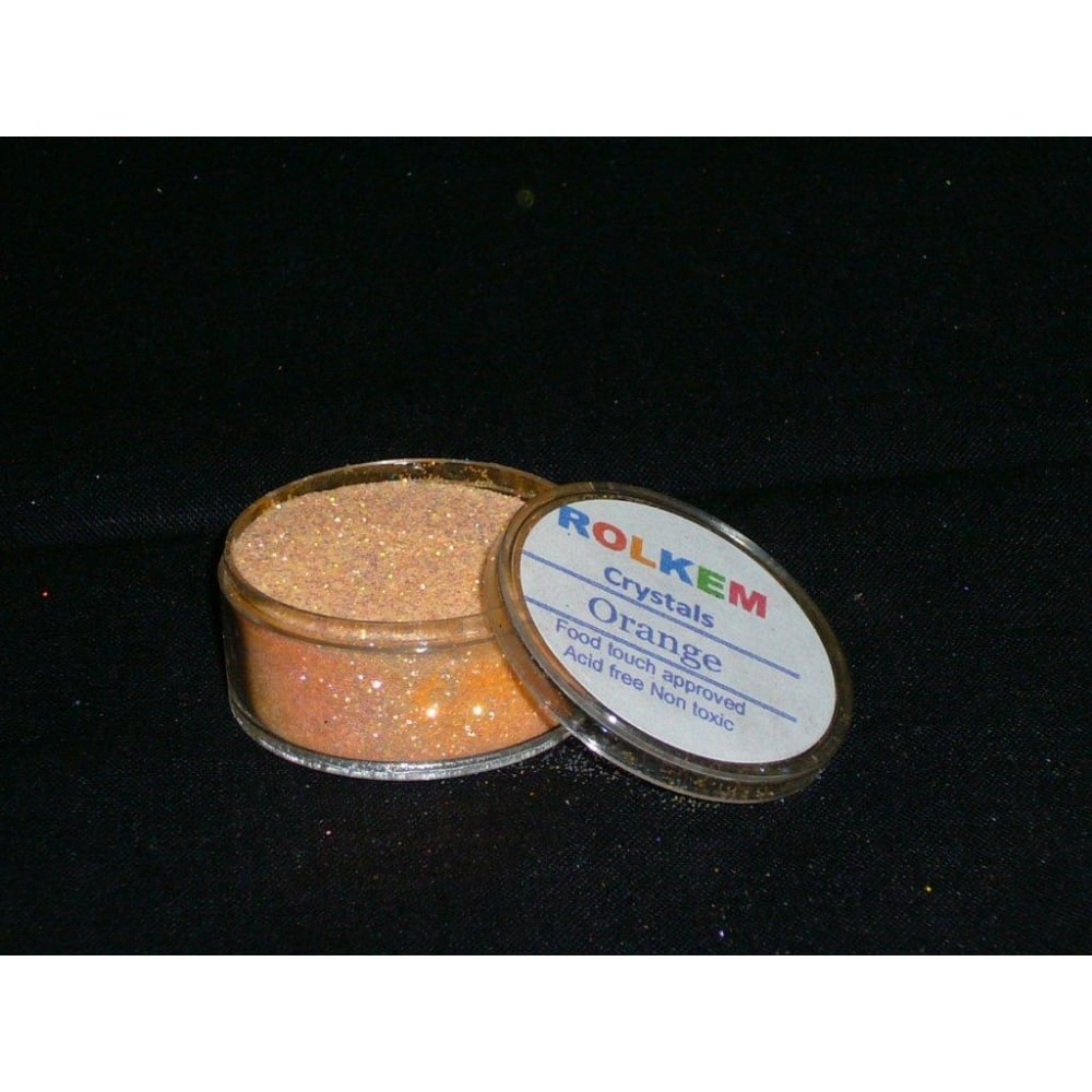 31093 Rolkem Crystal Non Toxic Sugarcraft Glitter Colours 10ml O