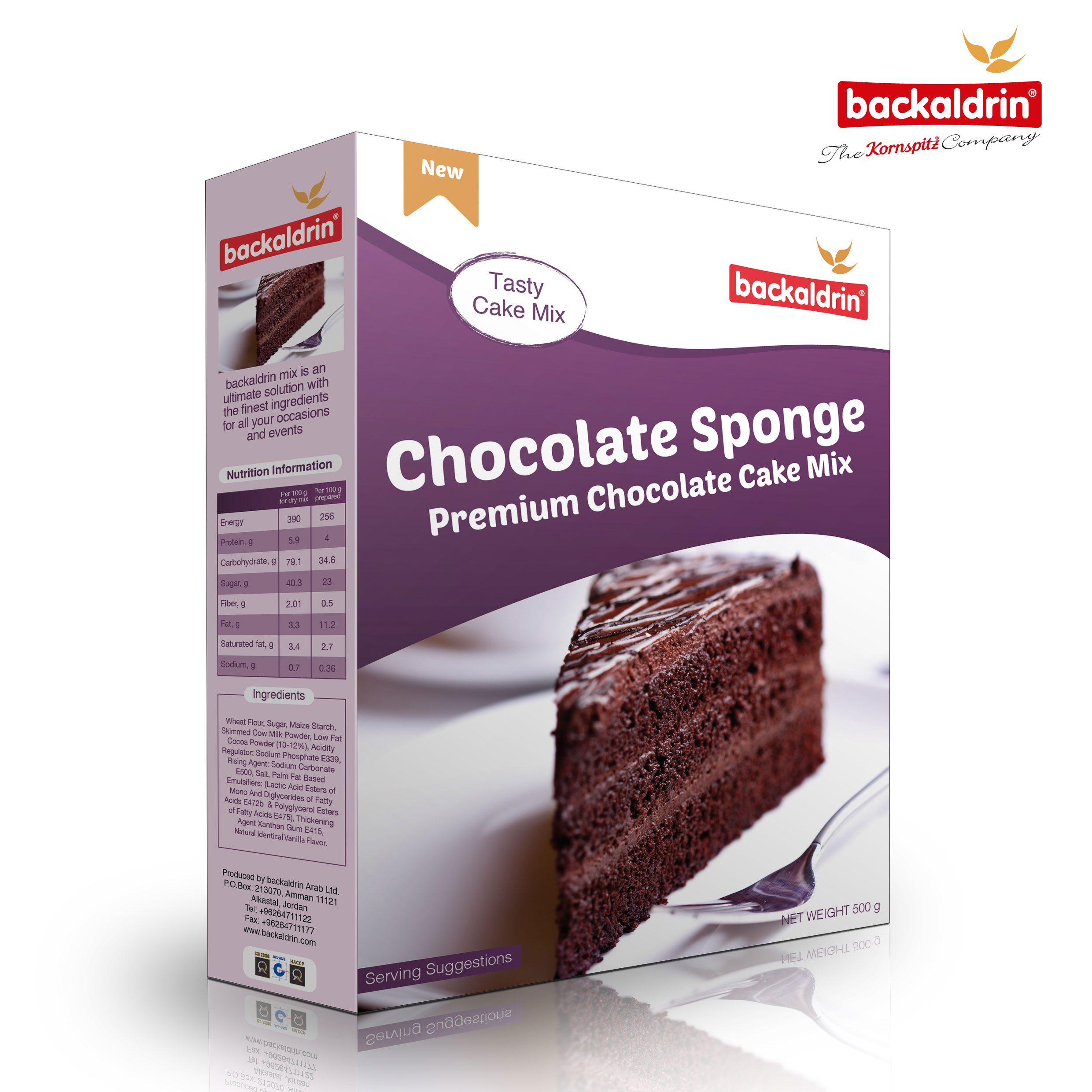31844 Backaldrin Chocolate-Sponge 500grm