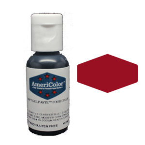 31597 Americolor soft gel paste maroon food paint 0.75oz