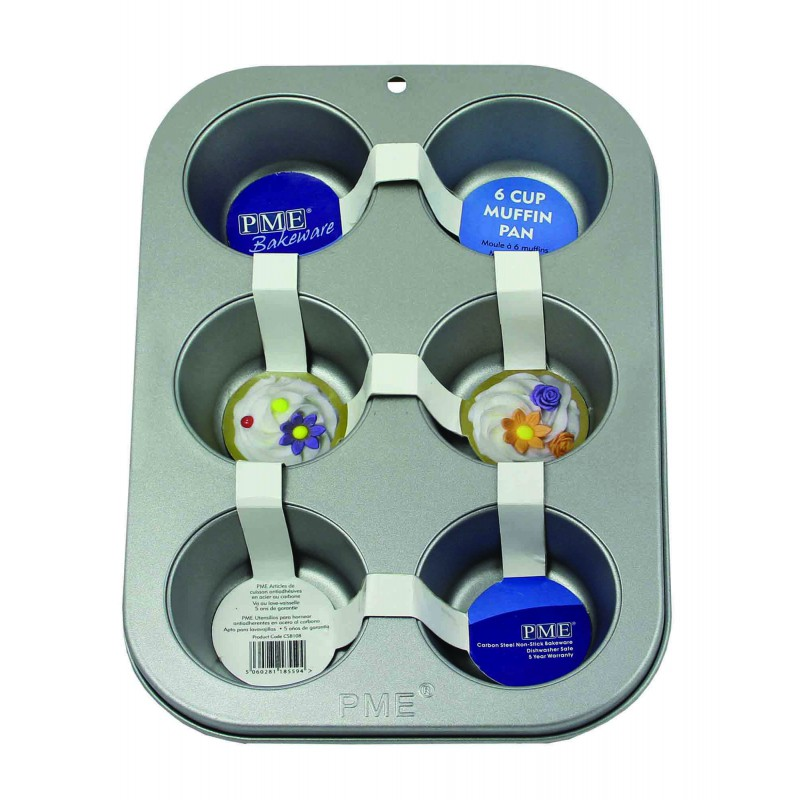 2002880 Jem Non Stick 6 Cup Muffin Pan (26.5 x 18 x 3cm)