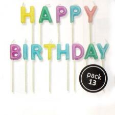 2001454 Jem Happy Birthday Pastel Candle Set 13