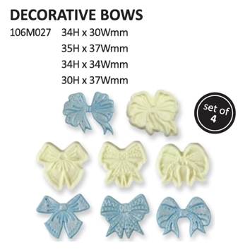 2001430 Jem decorative bow set of 4