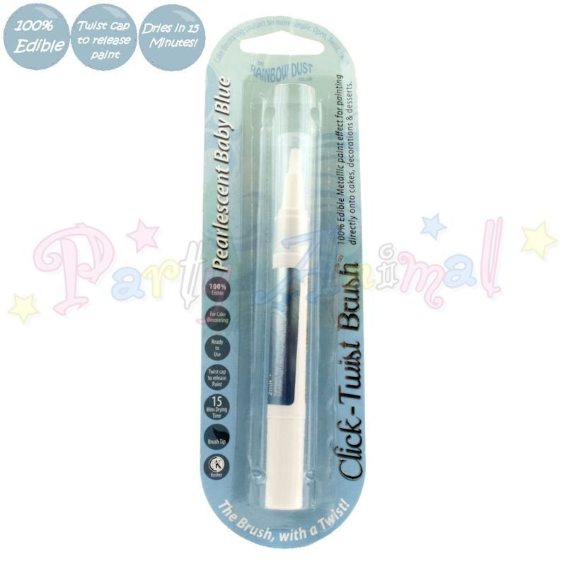 31216 Rainbow Dust Edible Click Twist Brush M-Baby Blue