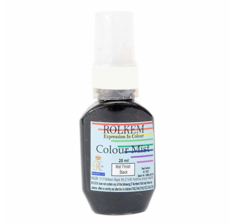 31798 Rolkem RKSA COLOUR MIST MATT FINISH BLACK 20ML