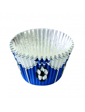 2001893 Jem Blue Football Foil Baking cup pk30
