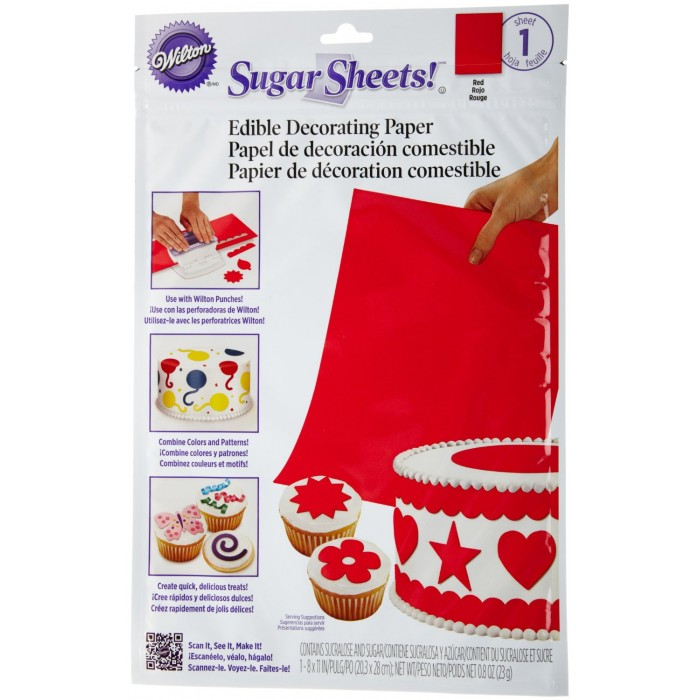 30653 Wilton Sugar Sheet, Red Print