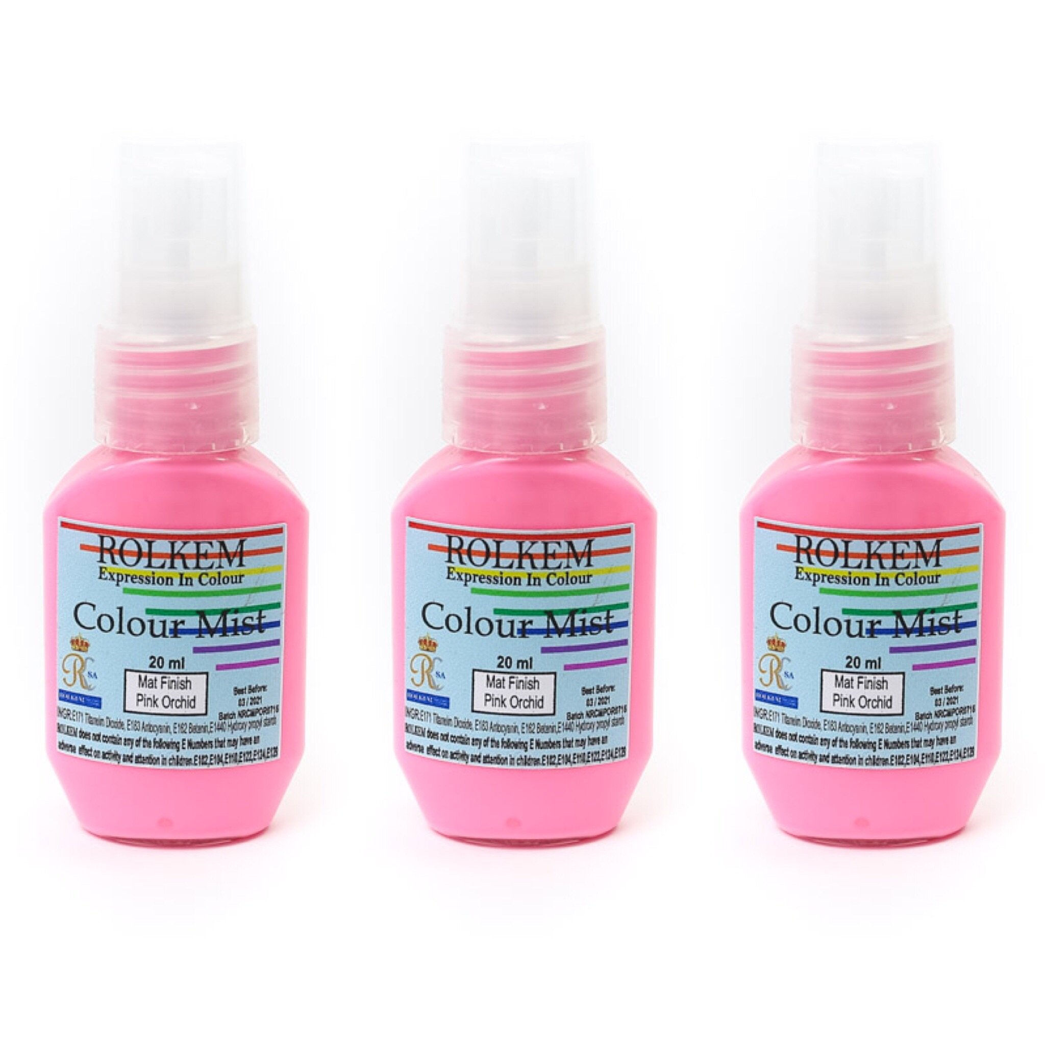 31796 Rolkem RKSA COLOUR MIST MATT FINISH PINK ORCHID 20ML