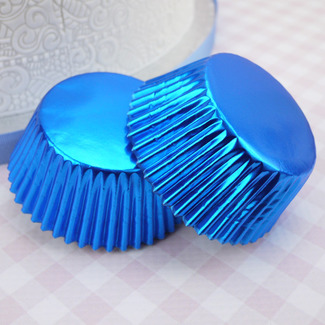 2002169 Jem Metallic Blue Cupcake Cases Pk30