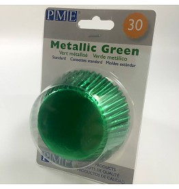 2002867 Jem Metallic Green Baking Cups Std 30PK