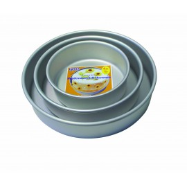 2000063 Aluminium Single Round Tin 12 X 3 Inch Single Pcs