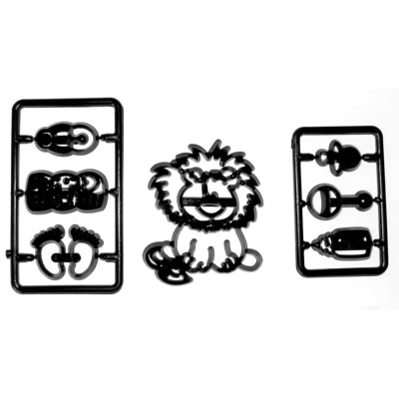 2002631 Baby Lion & Nursery Items Cutter Set by Patchwork Cutter