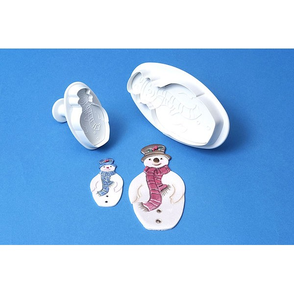 2001207 Jem Snowman Plunger Cutter Set of 2