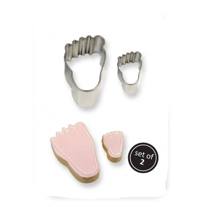 2001190 JEM Cookie & Cake Foot Cutter (SET/2)