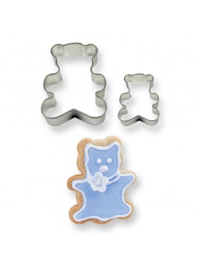 2001855 Jem Cookie & Cake Teddy Cutter Set Of 2