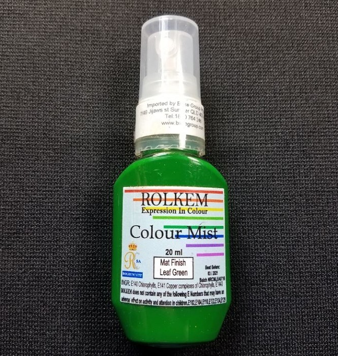 31793 Rolkem RKSA COLOUR MIST MATT FINISH LEAF GREEN 20ML