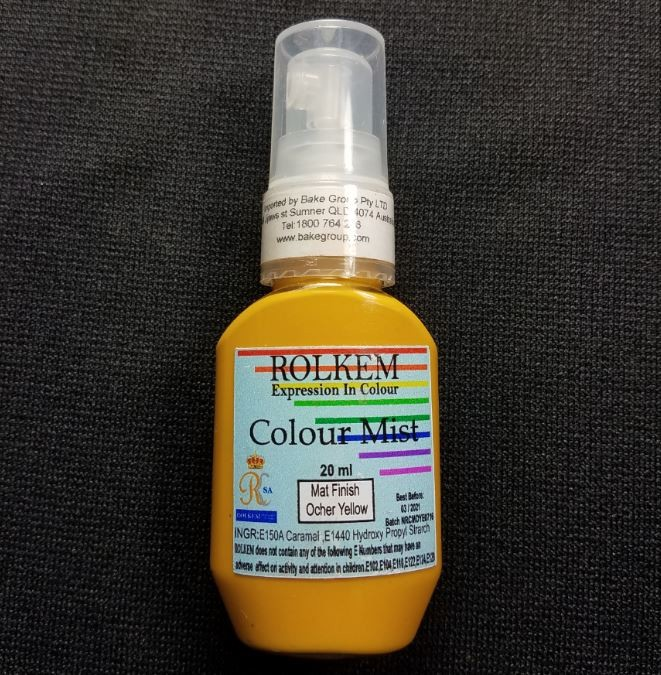 31790 Rolkem RKSA COLOUR MIST MATT FINISH ORCHER YELLOW 20ML